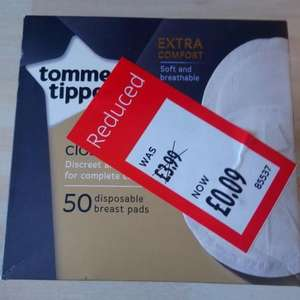 Tomme Tippe 50 Breast Pads 9p @ Aldi (Found in crayford)