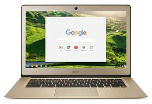 "Refurbished ACER 14 CB3-431 14"" Intel® Celeron™ Chromebook - 32 GB eMMC, 4GB RAM Full HD - GOLD £144.99 Argos on eBay"