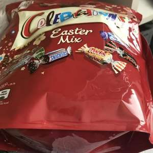 Celebrations pouch 450g in store at ALDI Cardiff Bay 79p