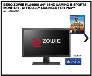 """BenQ ZOWIE RL2455S 24"""" 75Hz Gaming e-Sports Monitor  (Officially Licensed for PS4™ & PUBG) w/ FREE hard copy of PUBG £129.99 At Box"""