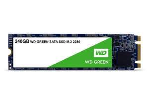 Western Digital WDS240G2G0B WD 240 GB Internal SSD M.2 SATA, Green - £28.50 @ Amazon