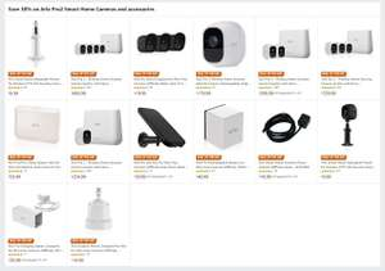 30% off on Arlo Pro2 Smart Home Cameras and accessories 1080P - plus bonus 20% discount code at Amazon