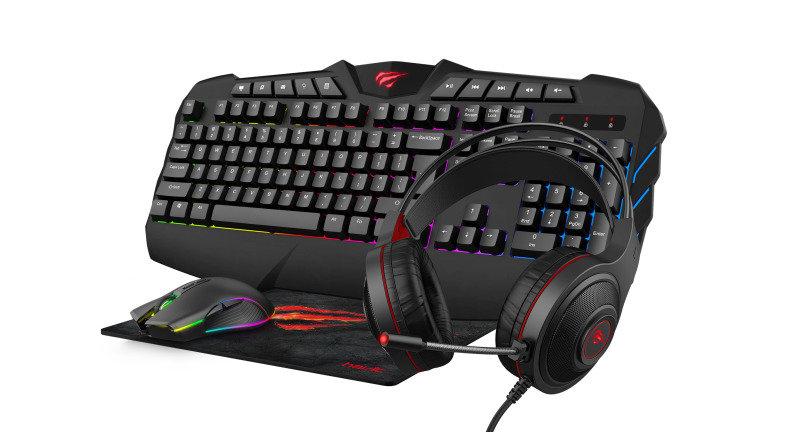 Havit RGB Keyboard, Mouse, Headset, & Surface Bundle - £22.47 @ Ebuyer