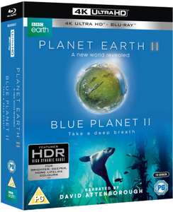 Planet Earth II & Blue Planet II Boxset - 4K Ultra HD £27.08 delivered with code @ Zavvi