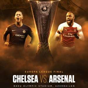 Watch UEFA Europa League Final LIVE for FREE - Chelsea & Arsenal on 29th May 8pm @ BT Sport YouTube channel