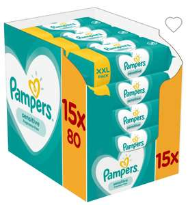 Pampers Sensitive Baby Wipes 15 x 80s pack (not the normal 56s pack) £8.98 (=60p per XXL pack) @ Costco 13-26/5/19