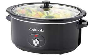 Cookworks 6.5L Slow Cooker - Black £14.99 @ Argos