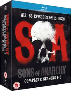 SONS OF ANARCHY SERIES 1-5 [2013] Blu-Ray Boxset £15.99 (Prime) / £18.98 (non Prime) Sold by Venture Online and Fulfilled by Amazon.