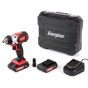Energizer EZCCB18V2B2AUK 18V Brushless Portable Impact Wrench + 2 x 2.0Ah Batteries, Charger & Case - £79 delivered @ UK Planet Tools