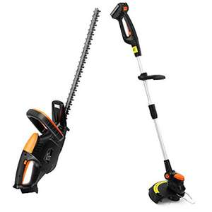 VonHaus 18v Cordless Grass Trimmer and Hedge Trimmer Bundle – Incls One Battery, Charger and Line Spool £49.99 at Amazon sold by DOMU UK