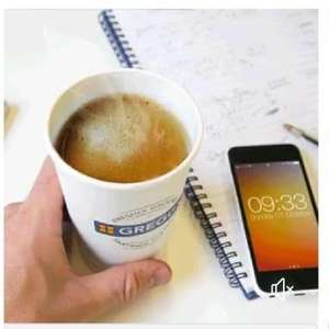 Free Greggs hot drinks Lord Street Liverpool - Show facebook page