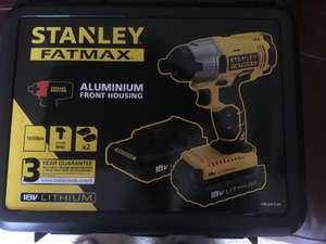 Stanley fatmax impact driver 18v 2 batteries charger and case - £50 @ B&Q Clearance