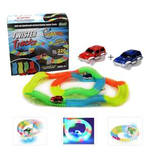 Glow Track Twister Tracks 220 PCS Magic Glow in the dark Tracks with 2 Race Cars @ Amazon Warehouse Like New £7.70 Prime £12.19 Non Prime