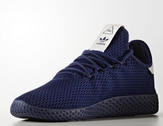 2cb0616ee adidas Originals x Pharrell Williams Mens Tennis HU Trainers Dark Blue Now  £44.99   M M