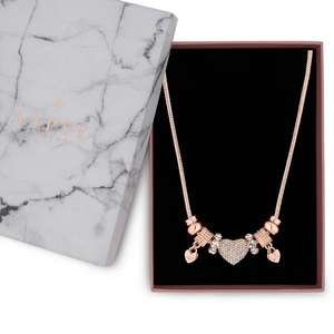 Lipsy - Crystal pave charm gift necklace @ Debenhams. Was £18, Now £5.40
