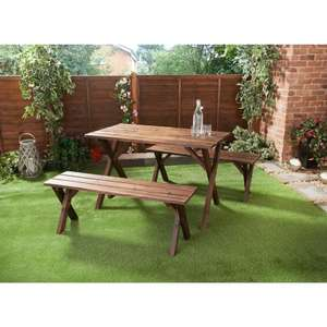 Burntwood Picnic Patio Set 3pc - £70 @ B&M subject to availability in store