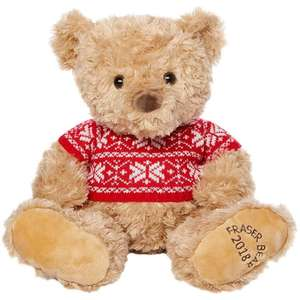 (2018) House of Fraser 12 Inch Bear Teddy - Free £5 voucher when you collect - £3 (£4.99 C&C / delivery) @ House of Fraser