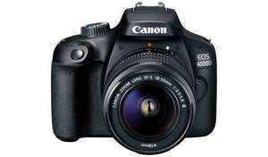 Canon EOS 4000D DSLR Camera Body with 18-55mm Lens - £279 @ Argos