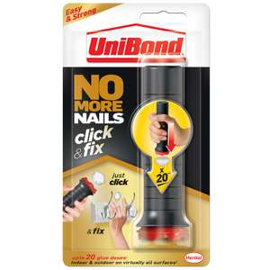 Unibond No More Nails Click & Fix 30G, Now £4.99 @ B&M