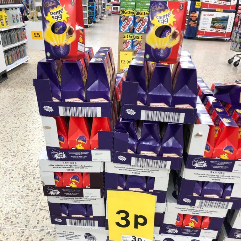 Cadbury's Creme Egg Easter Eggs 3p at Tesco Wembley (London)