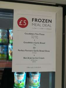 Booths £5 Frozen Meal Deal - Pizza, Garlic Bread + Ben & Jerry's Ice Cream - instore only