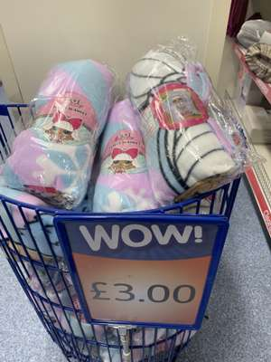 L.O.L. Fleece Blanket - £3 @ B&M Liverpool