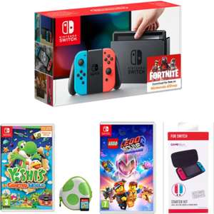 Nintendo Switch Neon Red/Blue with Yoshi's Crafted World (or) Mario Kart 8 & LEGO Movie 2 & Switch Starter Kit - £299.99 Delivered @ Game