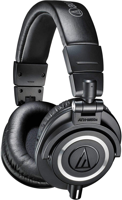 Audio-Technica ATH-M50X Studio Monitor Professional Headphones - Black/White, £109 at Amazon