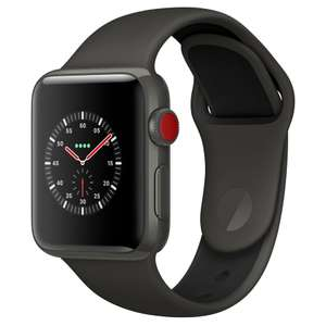 Apple Watch Edition, GPS and Cellular, 38mm Grey Ceramic Case with Sport Band, Grey / Black £649.50 John Lewis & Partners