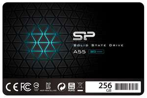 256GB Silicon Power SSD 3D NAND A55 SLC Cache Performance Boost 2.5 inch SATA III 7mm + 3 Year Warranty - £25.79 delivered @ Amazon