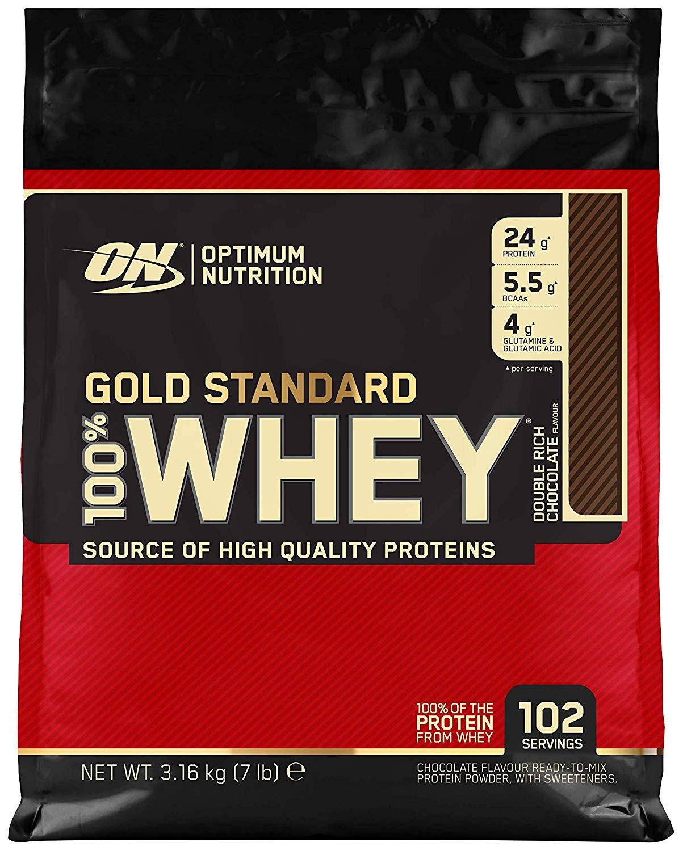 Optimum nutrition Gold Standard Whey Protein Powder 3.16kg 102  servings £59.95 / £47.96 s&s Amazon
