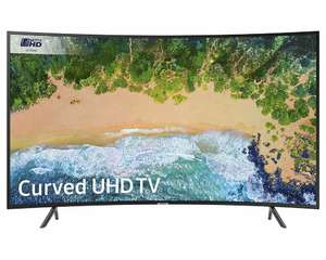 """Samsung UE55NU7300 55"""" Curved  HDR10+ Smart 4K TV for £374 with code @ Crampton & Moore eBay"""