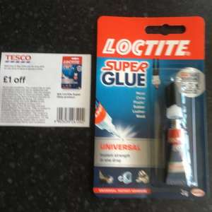 Small Loctite Glue 3g £1.50 instore at Tesco - 50p with voucher in Tesco magazine