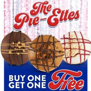 Krispy Kreme buy one get one free on the 15th May on American Pie Donuts @ Krispy Kreme / Tesco