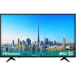 "Hisense H43A6200 43"" 4K Ultra HD HDR LED Smart TV with Freeview HD and Freeview Play £279 Laptops Direct"