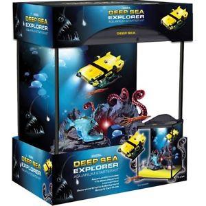 Marina Deep Sea Explorer Fish Tank 17L Kids Glass Aquarium Filter Starter Kit £25.99 ebay /  hugglepets