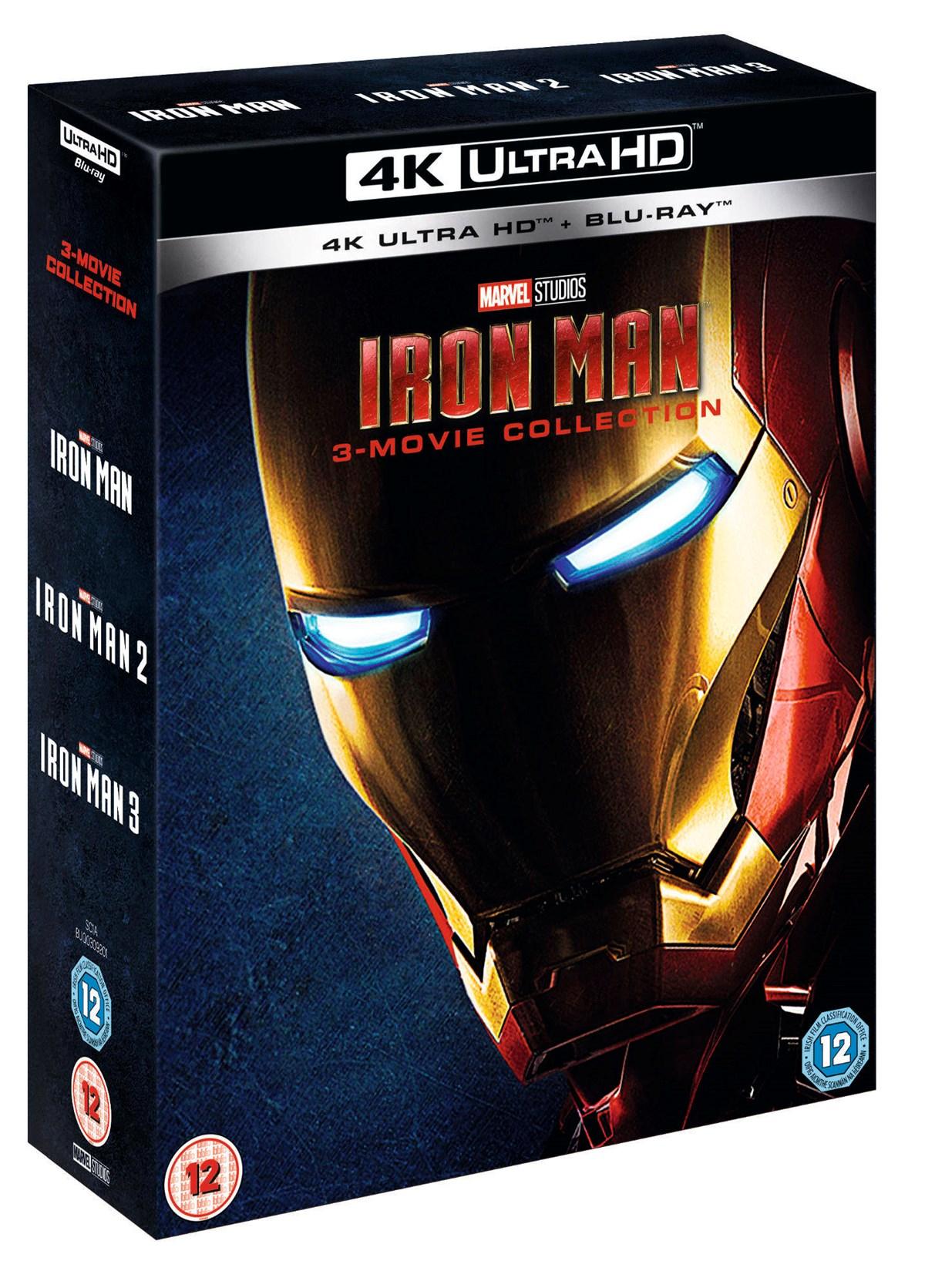 Iron Man 3-Movie Collection (4K Ultra HD + Blu-ray (Boxset)) [UHD] £35.99 Zoom