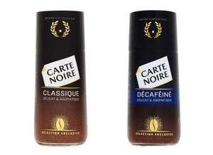 Carte Noire Instant Classique 100G /  Instant Decaffeinated 100G for £1.99 @ Tesco (from 15/05)