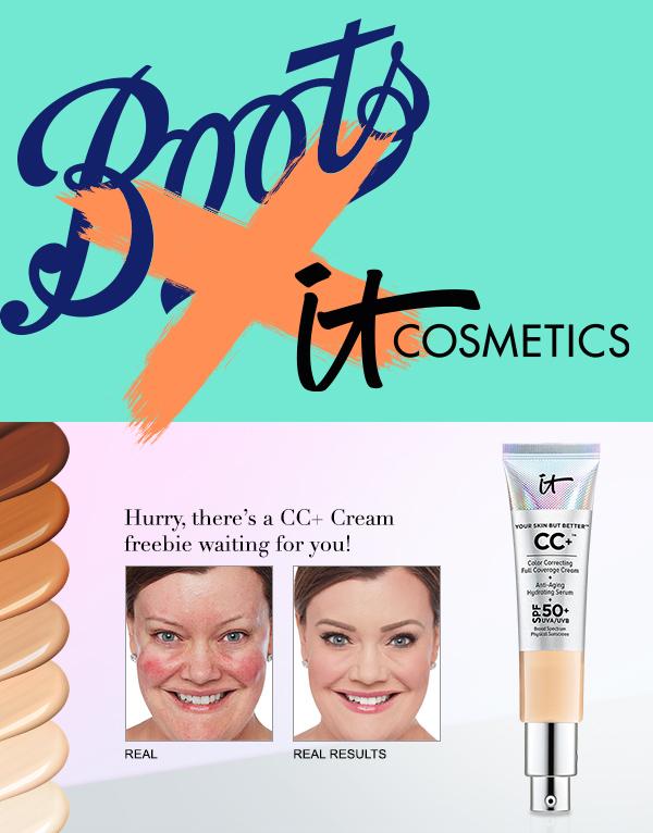 Freebie IT Cosmetics CC+ cream deluxe sample at Boots