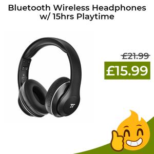 TaoTronics Wireless Headset w/ Dual 40mm Drivers, 15hrs playback, 4.2 Bluetooth £15.99 prime / £19.98 non prime @ Amazon / Sunvalleytek-UK