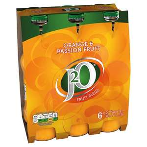 J20 Orange And Passion Fruit/Apple and Mango/ Apple and Raspberry (6 X 275Ml) for £2.75 @ Tesco