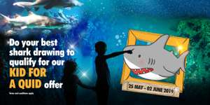 'Kid for a Quid' - Children ticket for just £1 during May Half-Term, May 25th 2019 @ Blue Planet Aquarium