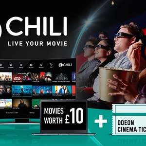£10 Movie Credit at CHILI + Odeon Cinema Ticket  = £5.99 (£4.79 with code) @ Groupon