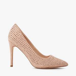 Dorothy Perkins Gem Detailed Nude Shoes, Size 5 Only. Was £28 - Now £8 & Free delivery ( With Code ) @ Debenhams