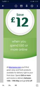 £12 off a £60 spend at morrisons online