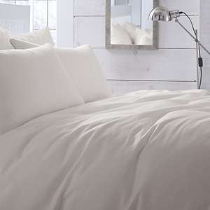 Chartwell Waffle Plain Cream King size Bed cover set  £8.00 / Pillow cases 2 pack £3.00 @ B&Q free C&C