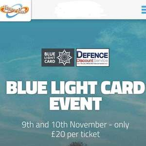 Services day at Thorpe Park FOR BLUE LIGHT CARD - £20 per ticket on 9th and 10th November only