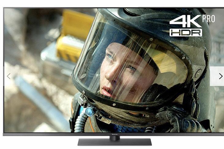 "Panasonic TX-55FX750B LED HDR 4K Ultra HD Smart TV, 55"" with Freeview Play/Freesat HD & Art Glass Design, Black £779 Powerdirect"