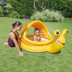 Intex Snail shade baby pool £9.99 / Intex Blue Crystal pool £4.99 / Intex Inflatable Whale ride on £4.99 delivered @ Smyths