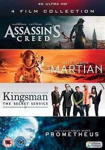 4K UHD + Blu-ray + Digital Download 4 Film Collection £14.99 delivered @ The Entertainment Store Ebay